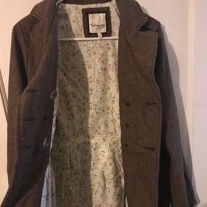 Forever 21 Brown tweed pea coat